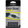 Nite Ize Knot Bone Strap 4-Pack #3 Cord Lock Black